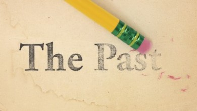 "pencil erasing the phrase ""the past"""