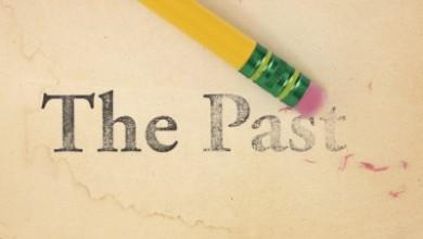 "pencil erasing the phrase ""the past"""